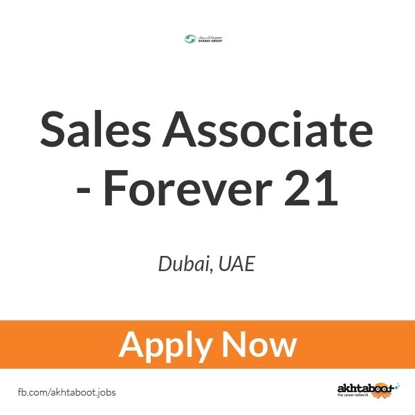 Sales Associate Forever 21 Job At Sharaf Group In Dubai Uae