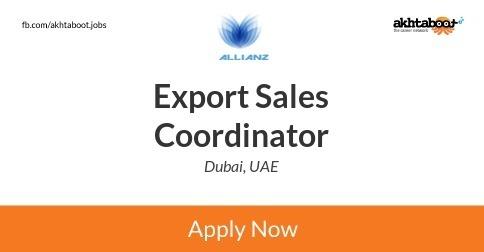 Export Sales Coordinator job at Allianz International