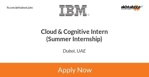 Cloud & Cognitive Intern (Summer Internship) job at IBM in