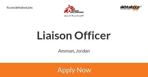 Liaison Officer job at MSF-FRANCE in Amman, Jordan