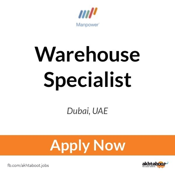 warehouse specialist job at manpower middle east in dubai uae