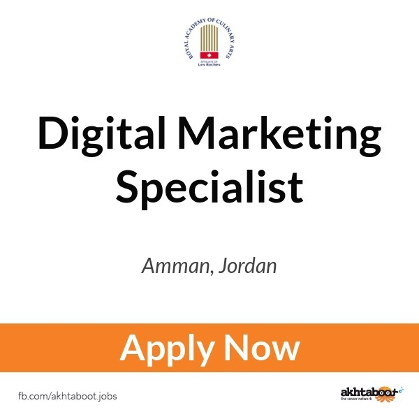 Digital Marketing Specialist job at Royal Academy of Culinary Arts – Marketing Specialist Job Description