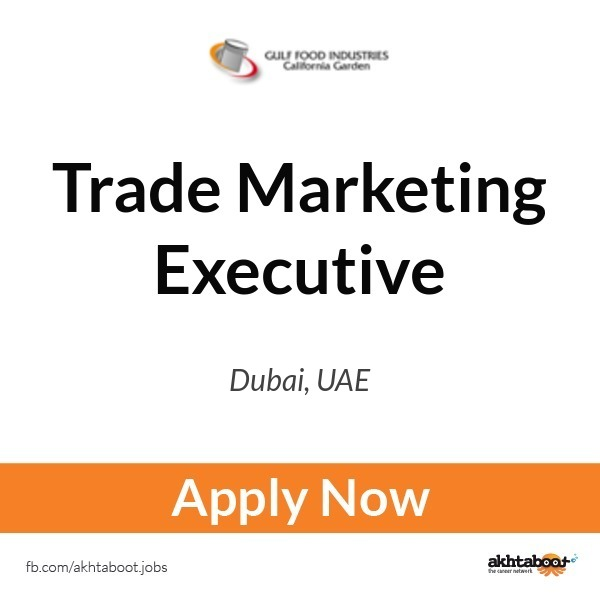 Trade Marketing Executive Job At Gulf Food Industries - California
