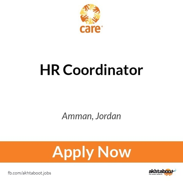 Hr Coordinator Job At Care International In Amman Jordan