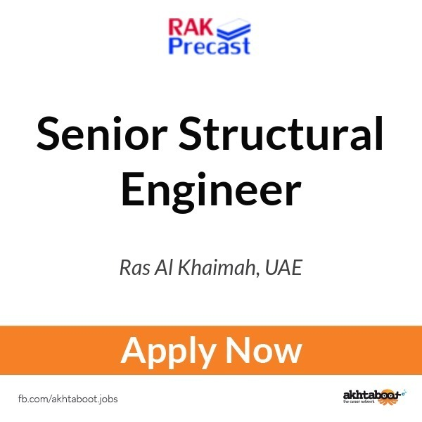 Senior Structural Engineer Job At Rak Precast Fzc In Ras Al Khaimah Uae