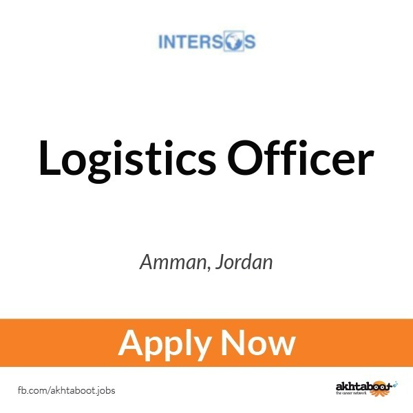 Logistics Officer Job At Intersos In Amman Jordan