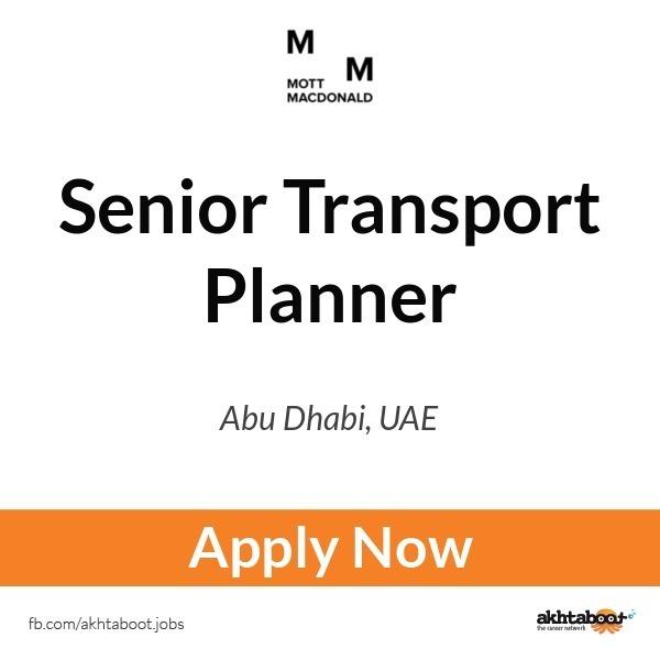 Senior Transport Planner job at Mott MacDonald in Abu Dhabi, UAE